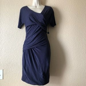 Joe's Jeans Stretch Bodycon Linen Ruched Dress S